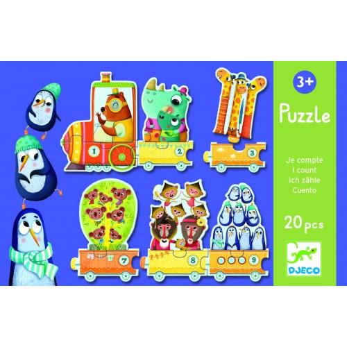 Puzzle tenuletul cu animale Djeco