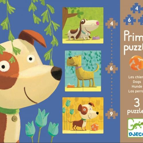 Puzzle-uri catei veseli Djeco