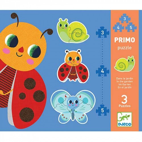 Puzzle-uri evolutive in gradina Djeco