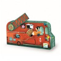 Puzzle masina de pompieri Djeco