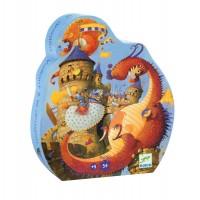Puzzle cavalerul si dragonul Djeco