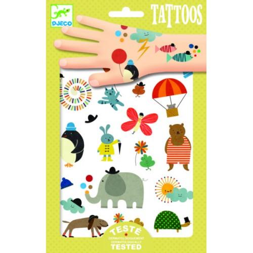 Tatuaje copii diverse motive Djeco