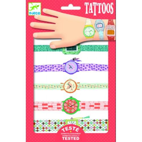 Tatuaje copii cu ceasuri Djeco