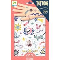 Tatuaje copii fluorescente vise Djeco