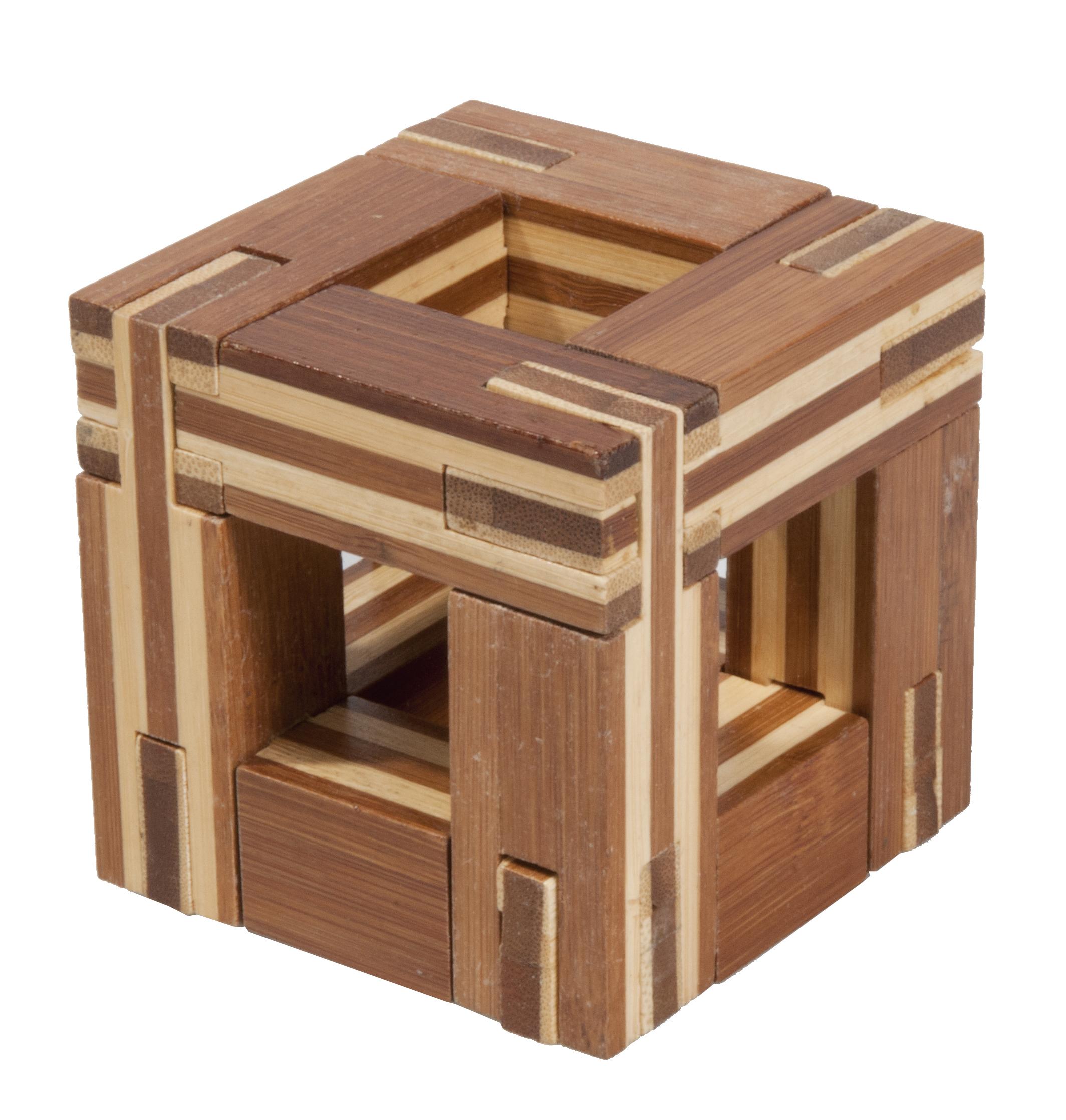 Joc logic IQ din lemn bambus Magic frame Fridolin