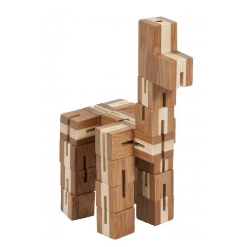 Joc logic puzzle 3D din bambus Flexi-cub 5 Fridolin