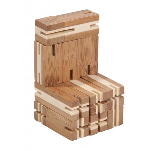 Joc logic puzzle 3D din bambus Flexi-cub 4 Fridolin