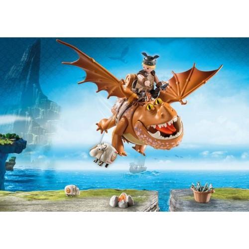 Fishlegs Si Meatlug,Dragons, Playmobil