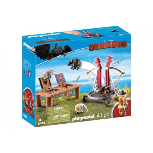 Gobber Si Lansatorul De Oi, Dragons,Playmobil
