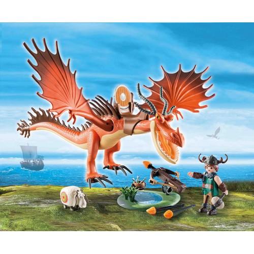 Snotlout Si Hookfang,Dragons, Playmobil