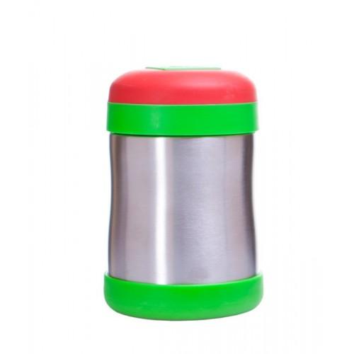 Recipient termic alimentar rosu verde 400ml