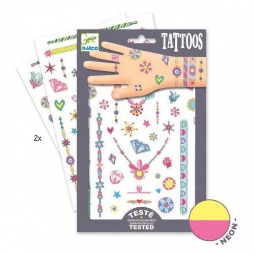 Tatuaje copii bijuterii neon Djeco