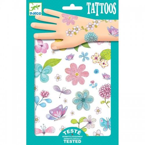 Tatuaje copii cu flori Djeco