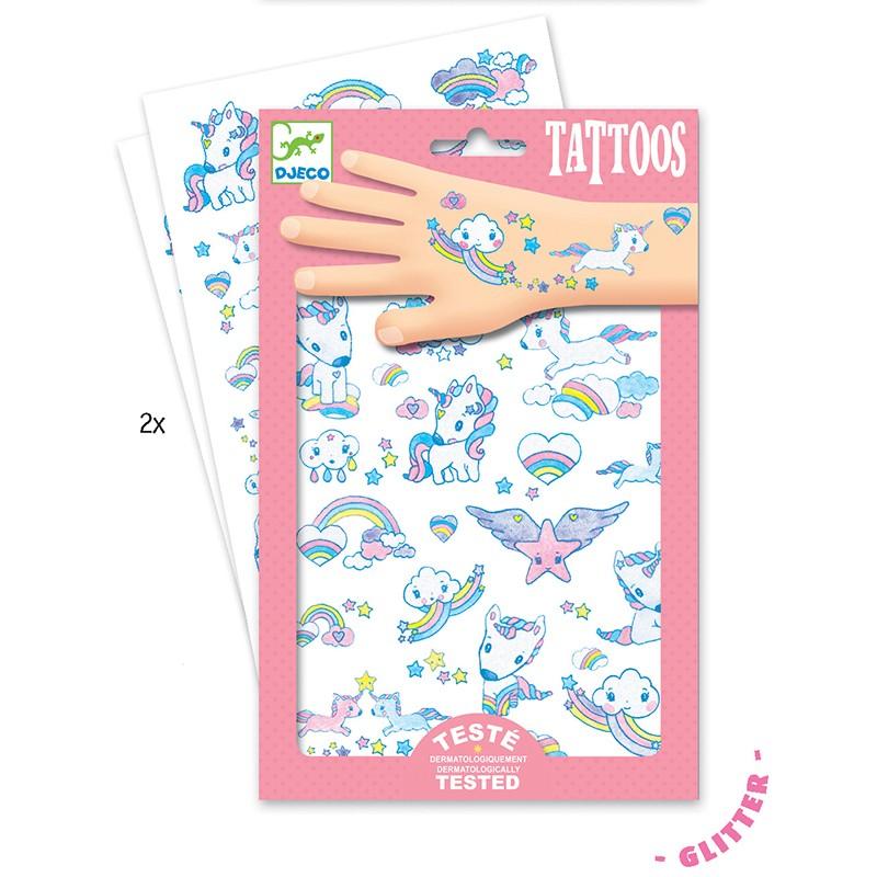 Tatuaje copii cu unicorni Djeco