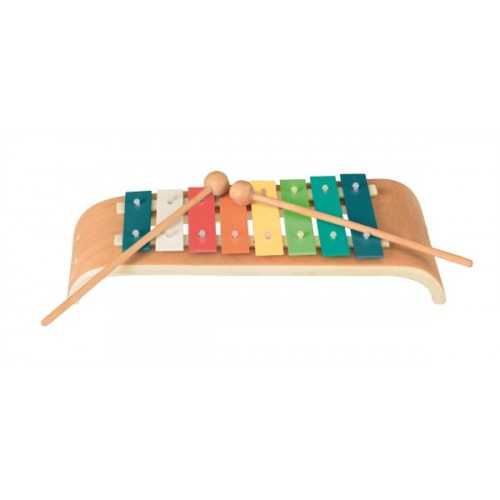Xilofon colorat si curbat cu 8 note Egmont Toys