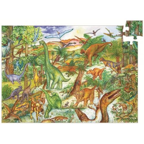 Puzzle observatie cu dinozauri djeco