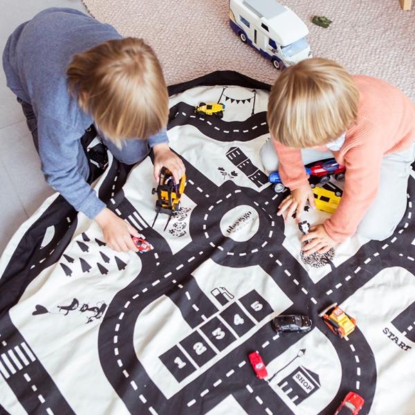 Covor joaca si organizator jucarii roadmap play&go imagine