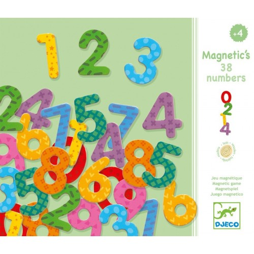Cifre magnetice colorate 38 piese djeco imagine