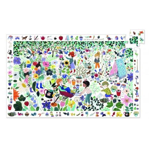 Puzzle observatie cu flori djeco