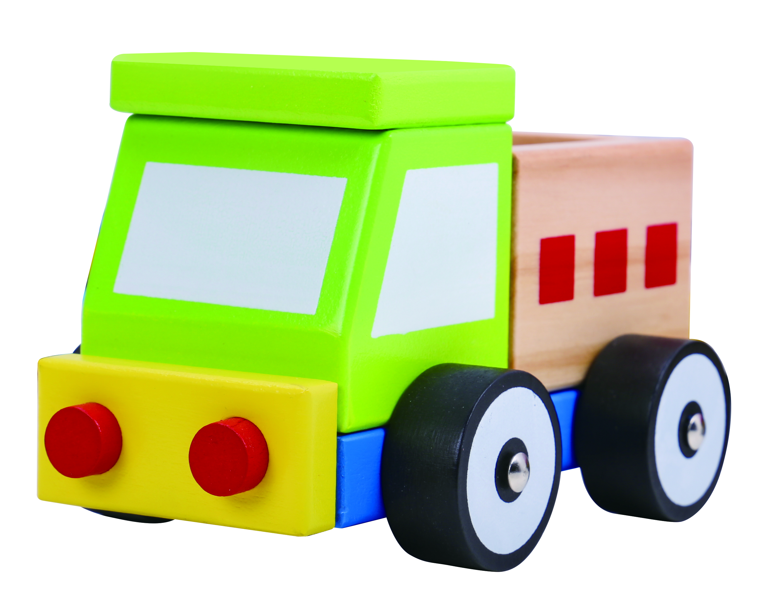 Camion din lemn tooky toy imagine