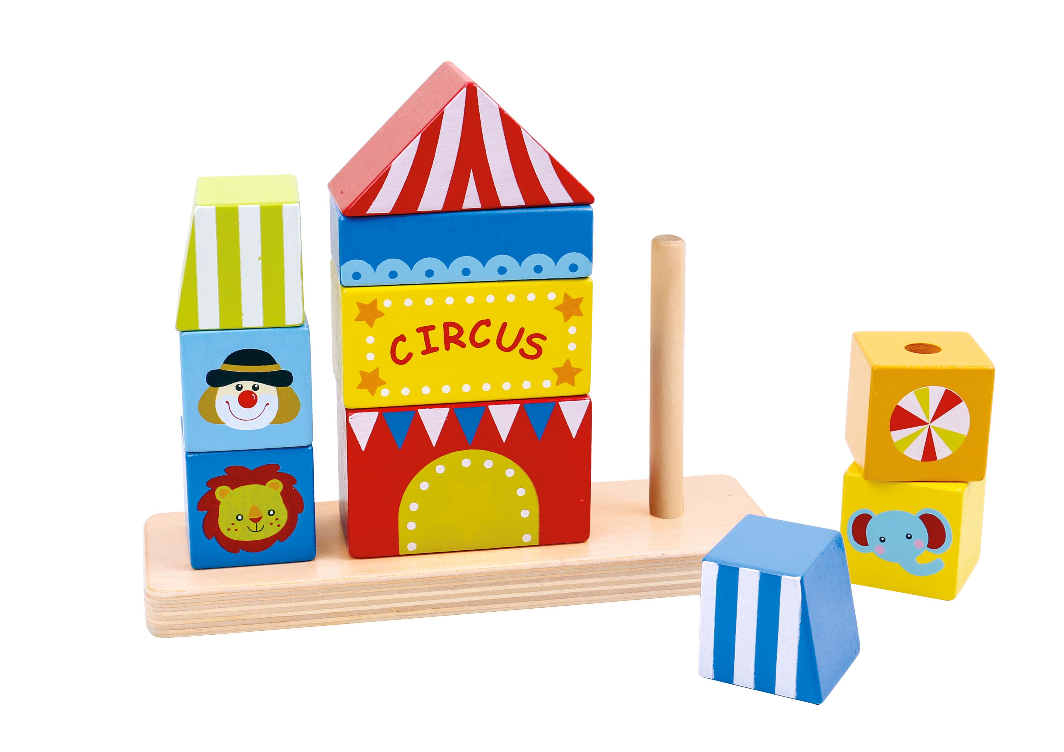 Circul de stivuit din lemn tooky toy imagine