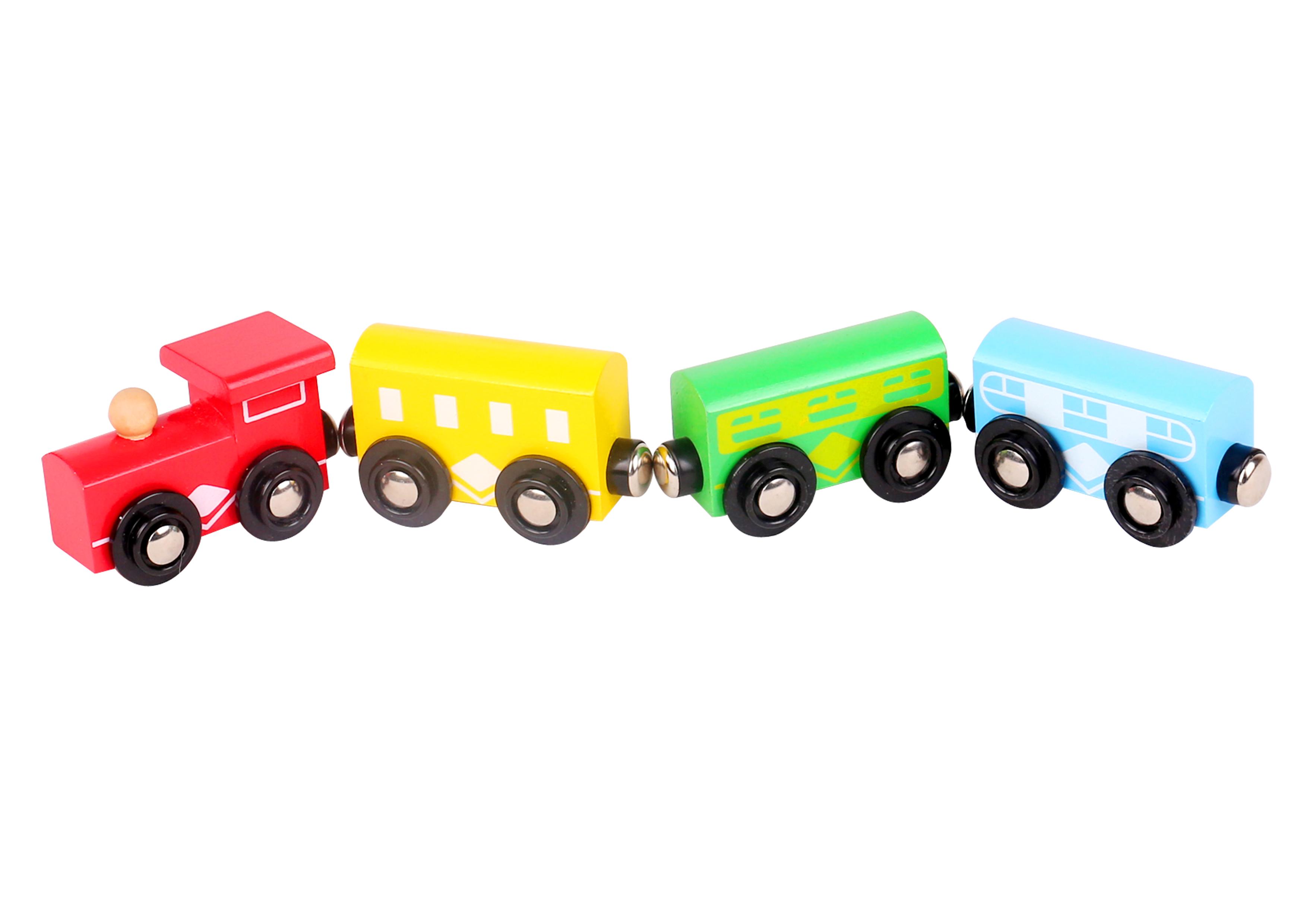 Trenulet din lemn cu magnet tooky toy imagine