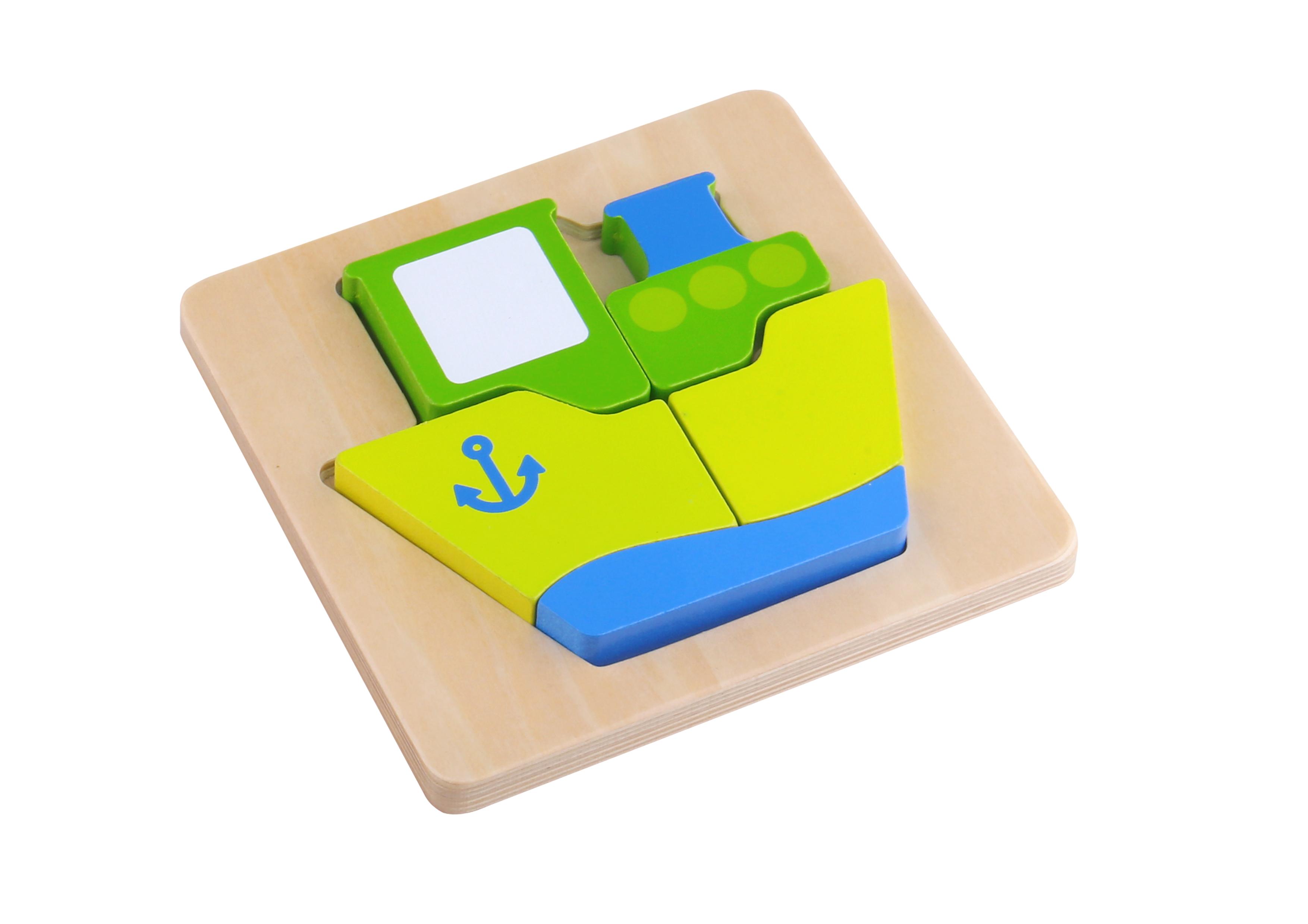 Mini puzzle lemn vapor tooky toy imagine