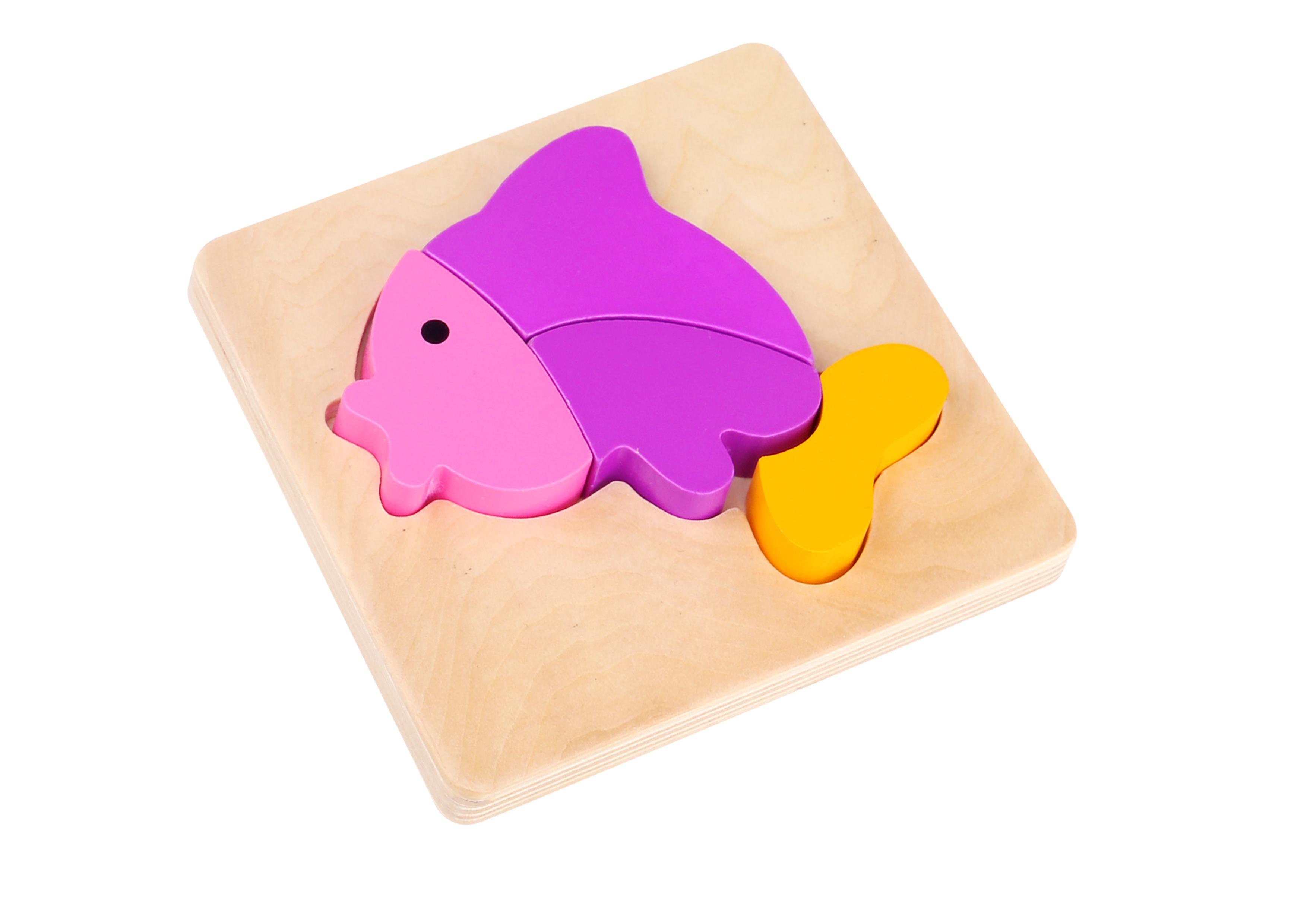 Mini puzzle lemn pestisor tooky toy imagine