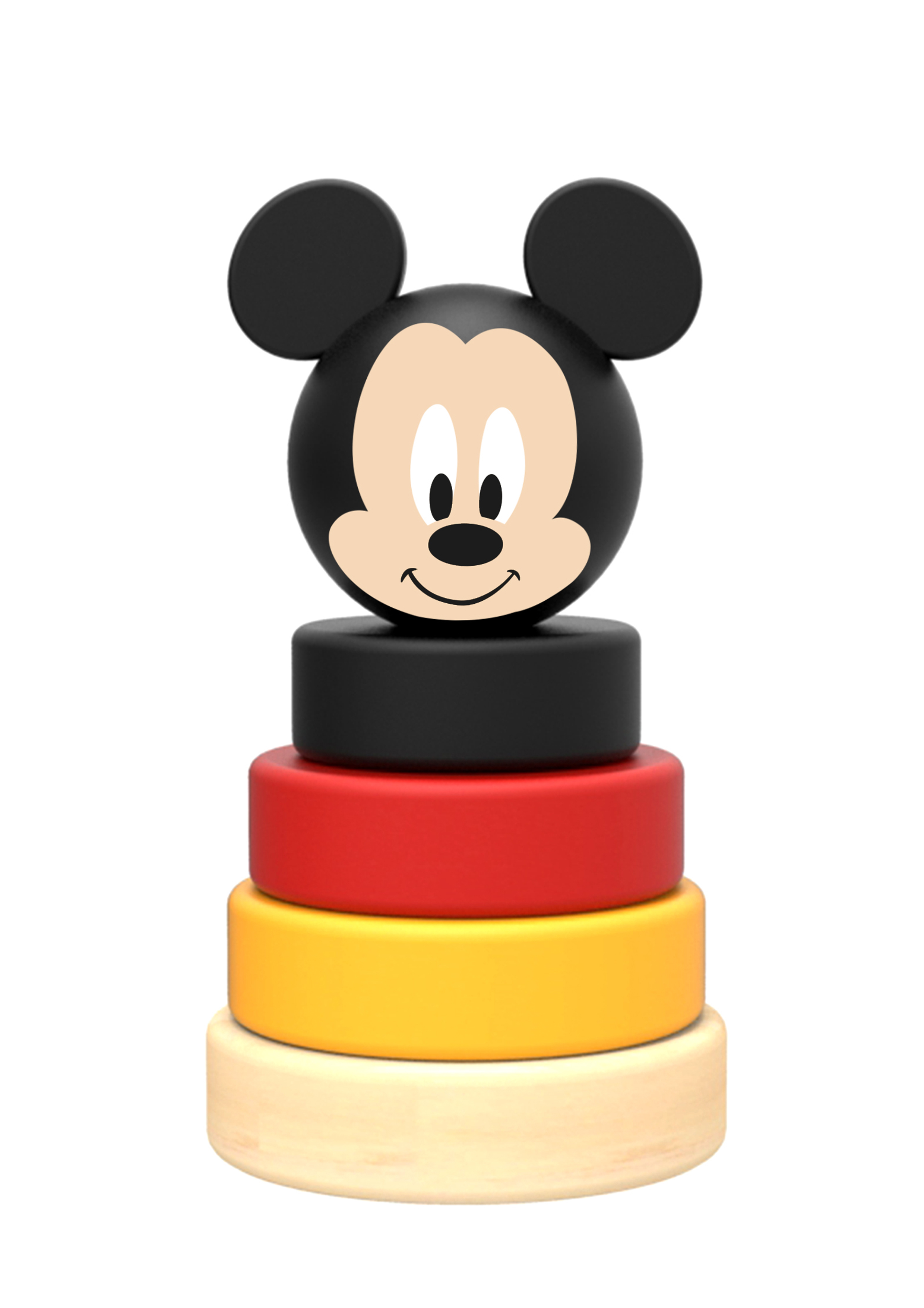 Mini piramida de stivuit inele din lemn si mickey,disney imagine