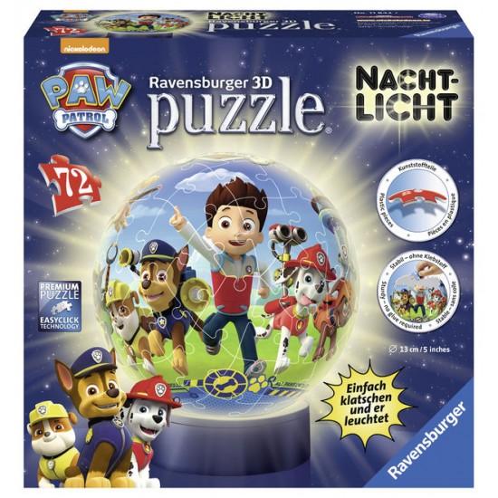 Puzzle 3d eroii paw patrol 72 piese ravensburger imagine