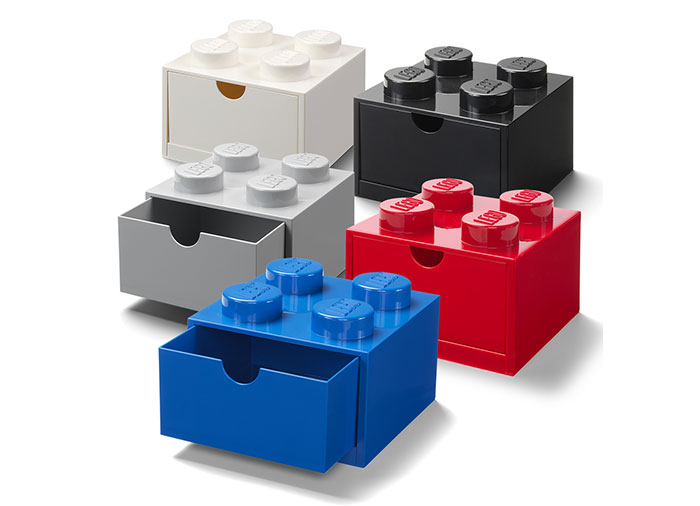 Sertar de birou lego 2x2 gri - 2