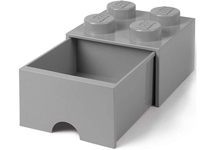 Sertar de birou lego 2x2 gri