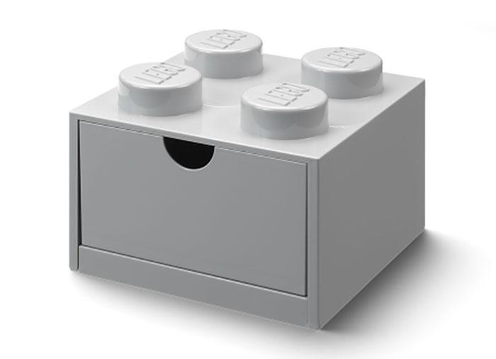 Sertar de birou lego 2x2 gri - 1