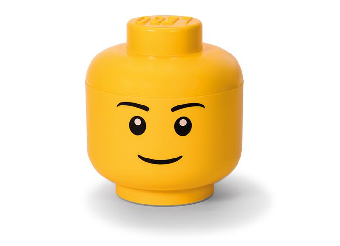 Cutie depozitare l cap minifigurina lego baiat imagine