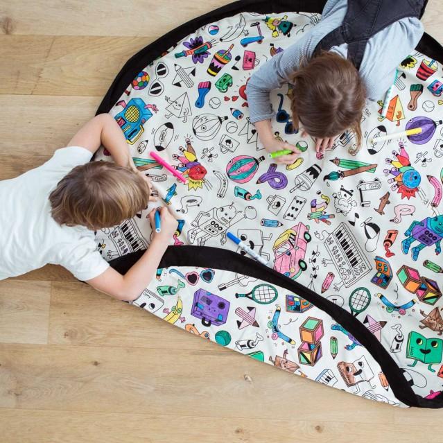 Covor joaca si organizator jucarii de colorat play&go imagine