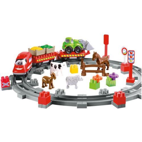 Set constructii abrick country train ecoiffier imagine