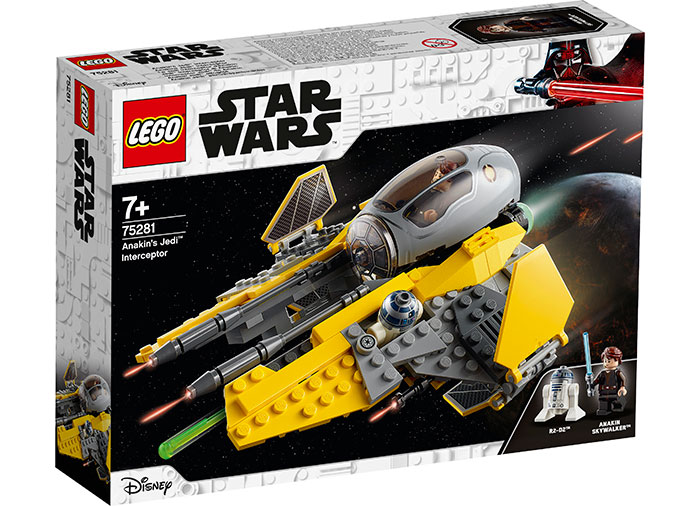 Interceptorul jedi al lui anakin lego star wars