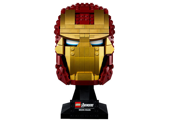 Casca iron man lego marvel super heroes - 1