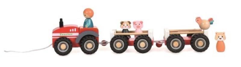 Tractor cu remorca si figurine egmont toys imagine