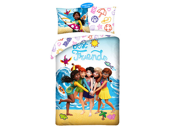 Lenjerie de pat lego friends imagine
