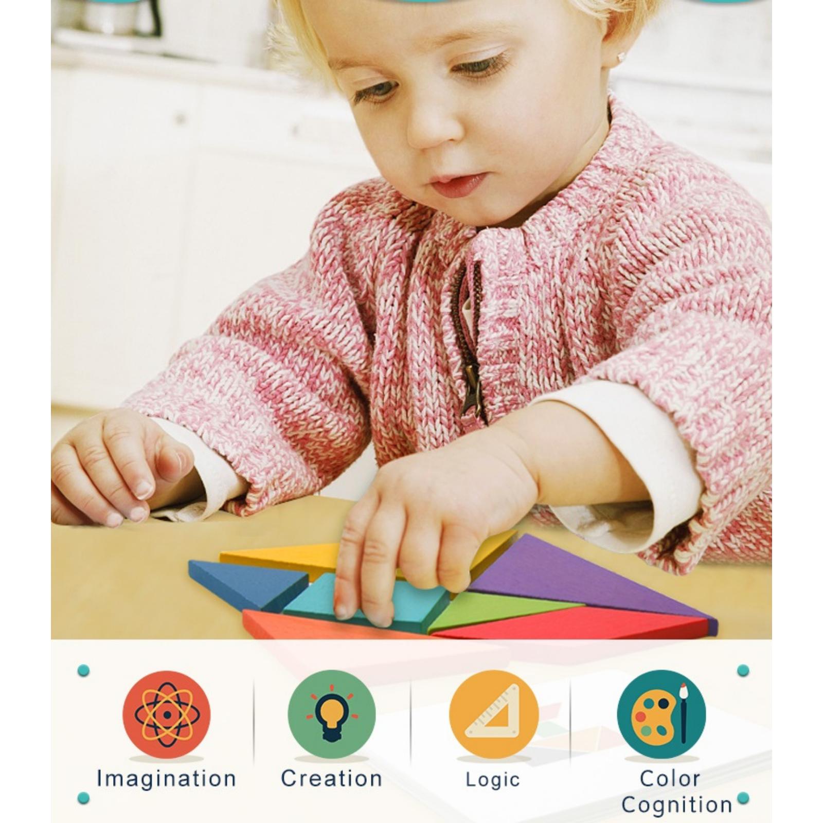 Joc tangram colorat mideer - 6