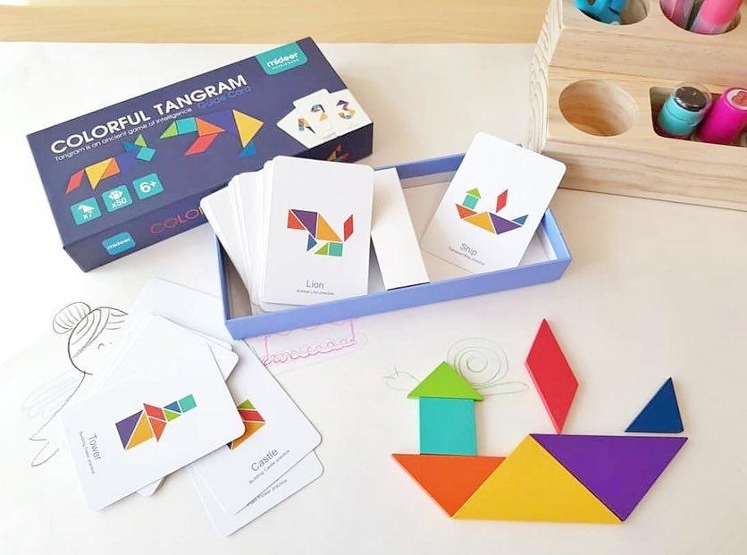 Joc tangram colorat mideer - 3