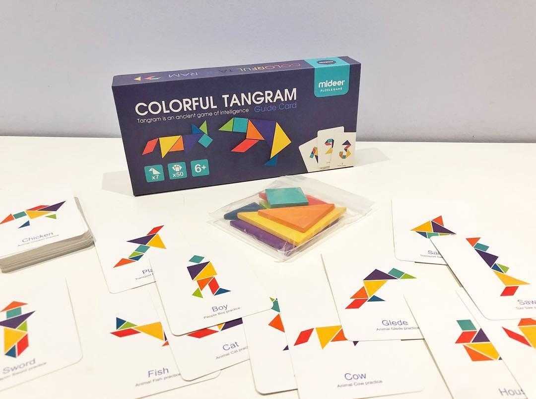Joc tangram colorat mideer - 4