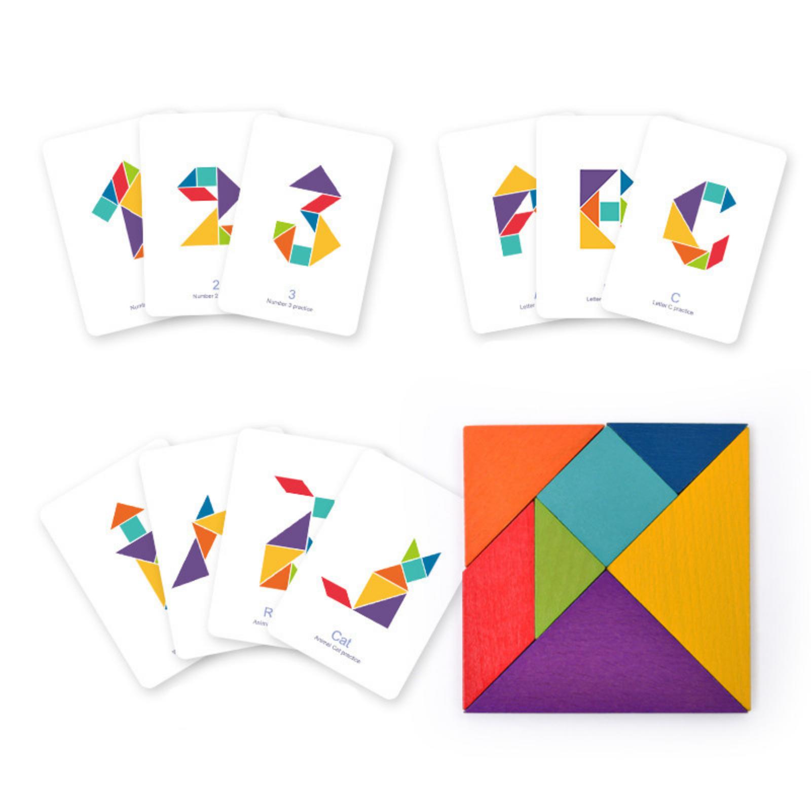 Joc tangram colorat mideer - 1