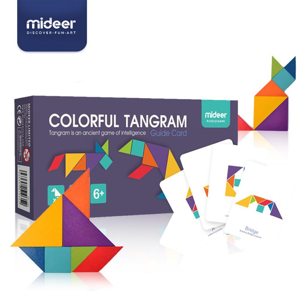 Joc tangram colorat mideer - 2