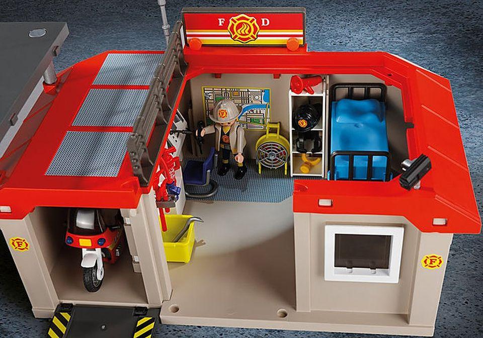 Set mobil statie de pompieri playmobil city action - 1