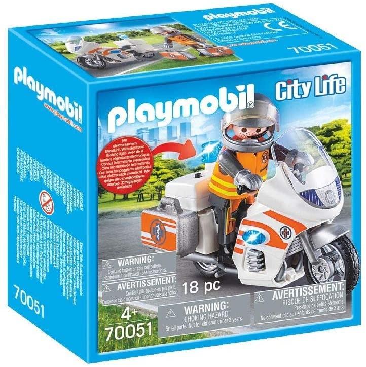 Motocicleta de urgenta cu lumini playmobil city life