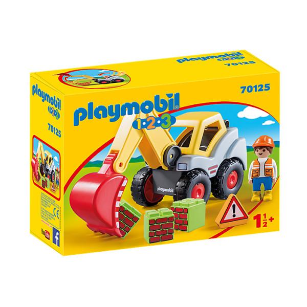 Excavator cu brat mobil playmobil 1.2.3