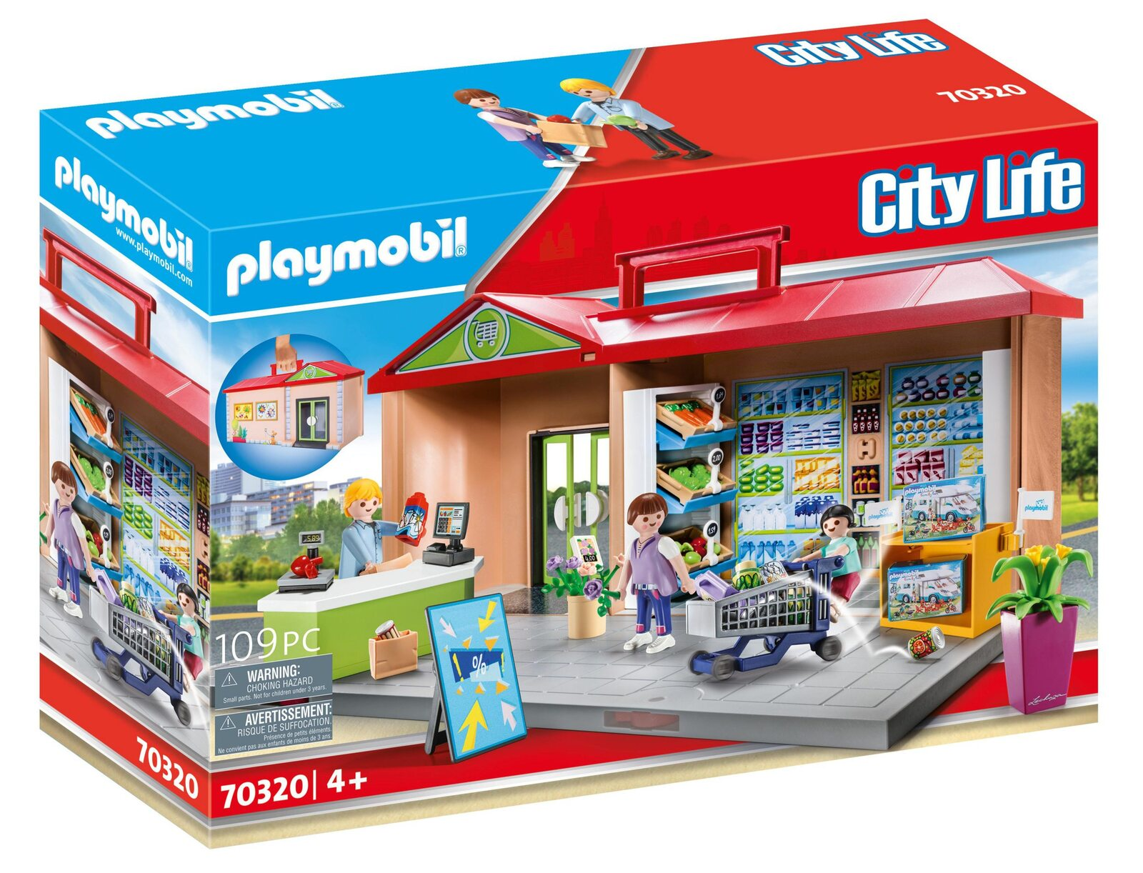 Set mobil magazin alimentar playmobil city life