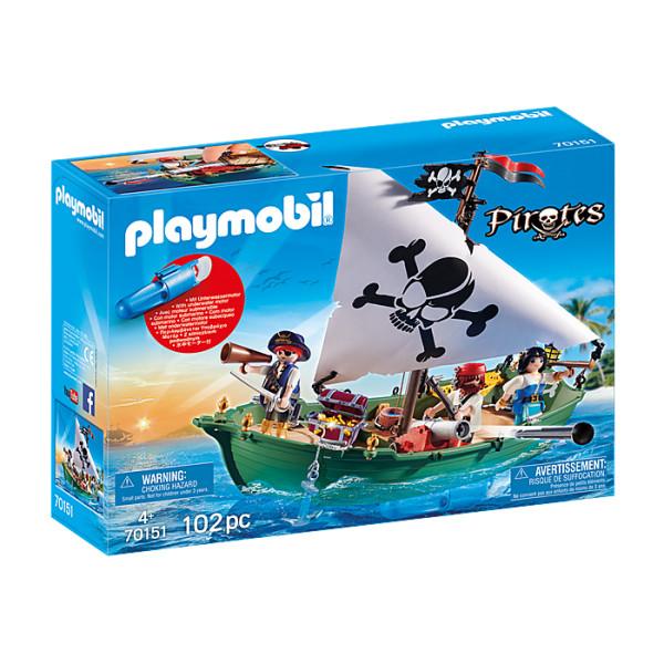 Barca piratilor cu motor playmobil pirates